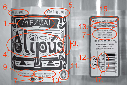 "Front and back label from ""Alipus"""